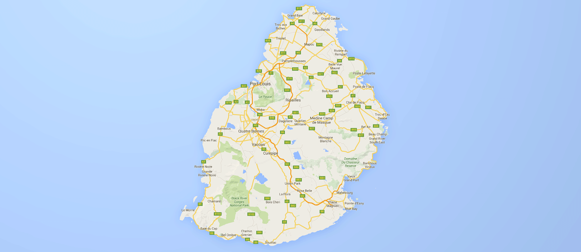 palmex ile Maurice map